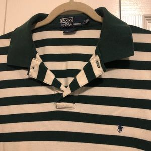 Green Stripe Ralph Lauren Polo Shirt